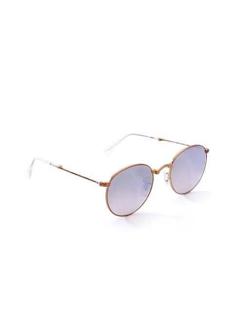 Ray-Ban Men Mirrored Foldable Round Sunglasses 0RB3532198/9U47