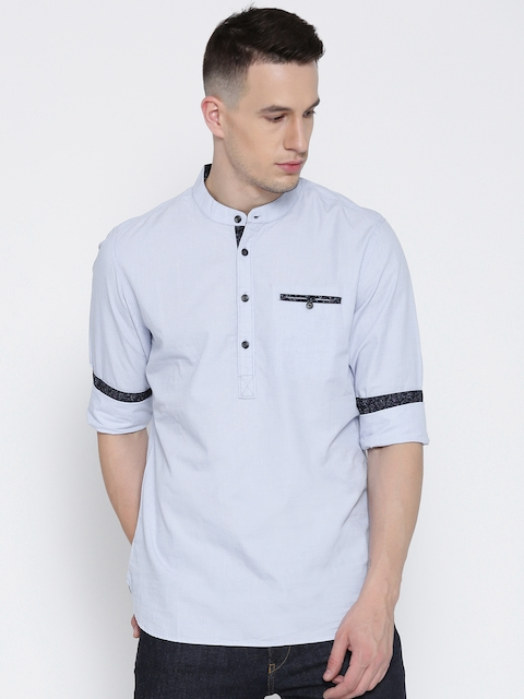 Being Human Clothing Blue Slim Fit Casual Shirt