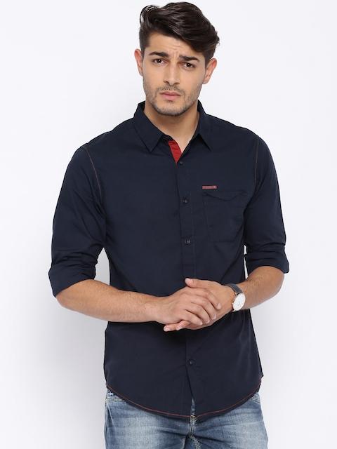 SPYKAR Navy Casual Shirt