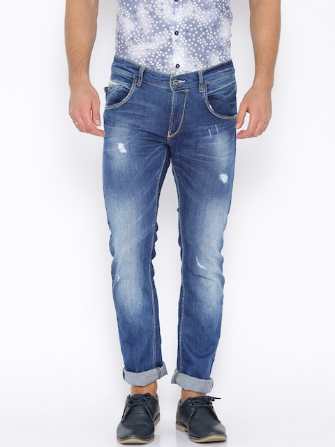 SPYKAR Blue Washed Ultra-Slim Fit Jeans