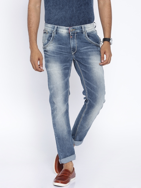 SPYKAR Blue Washed Rover Slim Fit Jeans