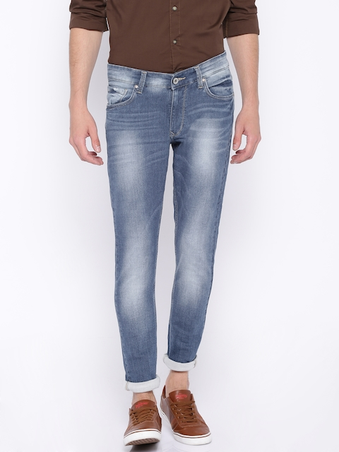 SPYKAR Blue Washed Super-Skinny Stretchable Jeans