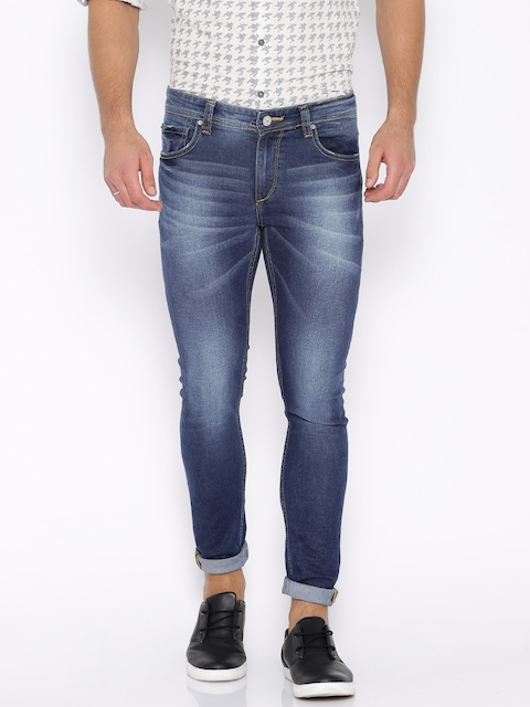 SPYKAR Blue Washed Super-Skinny Stretchable Jeans  available at myntra for Rs.1039