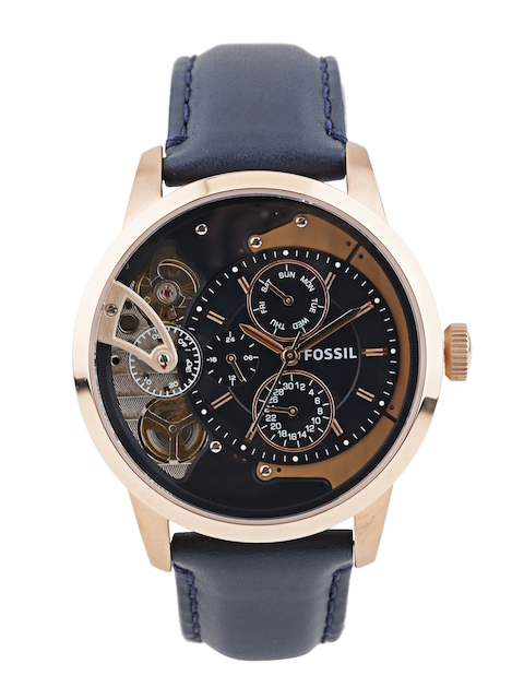 Fossil Men Navy Dial Watch ME1138