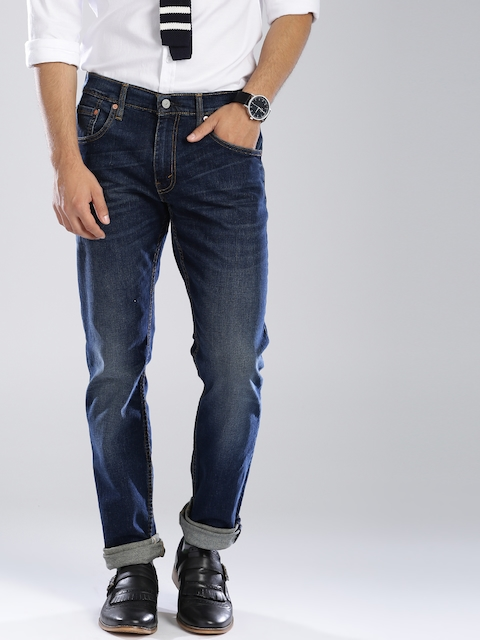 Levi's Blue Skinny Straight Fit Stretchable Jeans 65504  available at myntra for Rs.1869