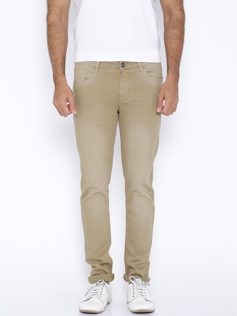 SPYKAR Khaki Casual Trousers