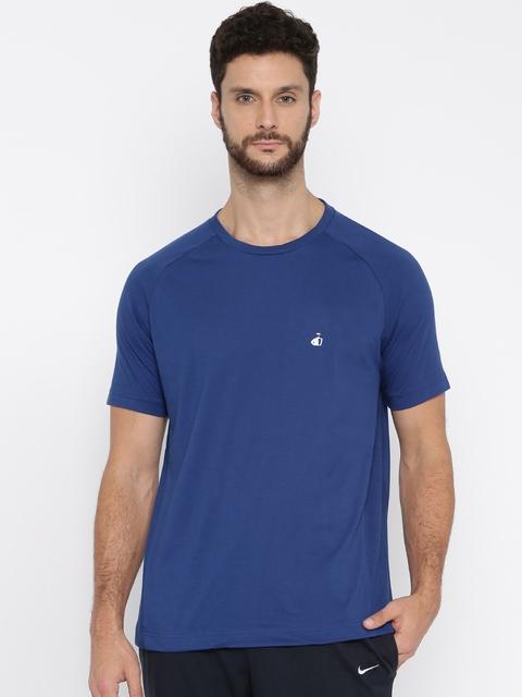 Jockey Sport Performance  Men Blue Solid T-Shirt SP24