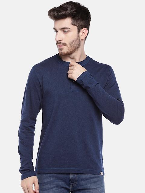 Jockey USA ORIGINALS Navy Blue Henley T-shirt US87