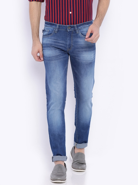 Solly Stretchable Jeans Co. Blue Comfy Tapered Fit Stretchable Jeans