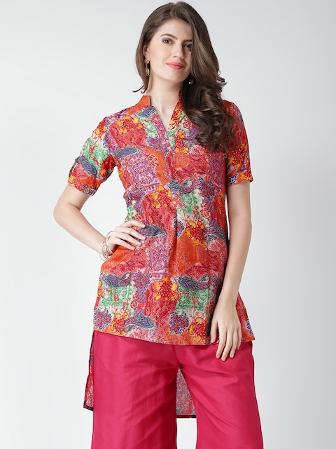 GERUA Multicoloured Printed High-Low Kurta