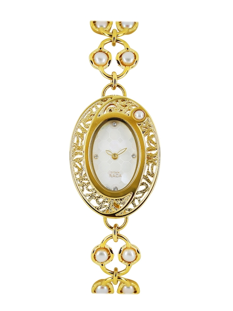 Titan Raga Women White Dial Watch 9973YM01  available at myntra for Rs.5456