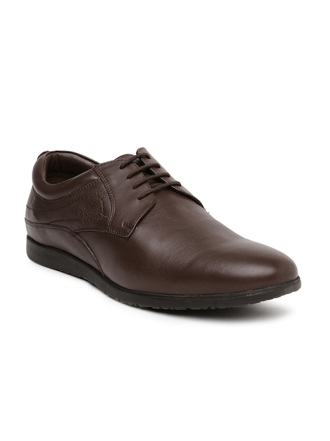 Hush Puppies Men Brown Leather Derby Shoes