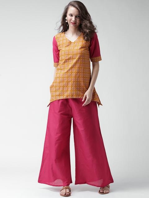 GERUA Yellow & Pink Printed Clothing Set