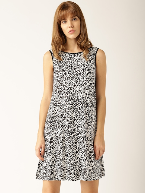 DressBerry Women White Printed A-line Dress  available at myntra for Rs.389