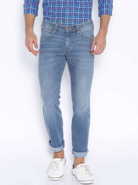 Wrangler Blue Skanders Slim Fit Stretchable Jeans  available at myntra for Rs.1247