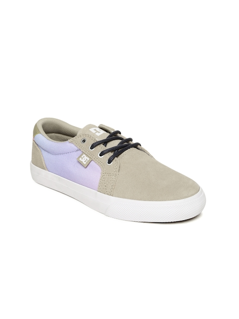 DC Women Beige & Lavender Council SE J Sneakers