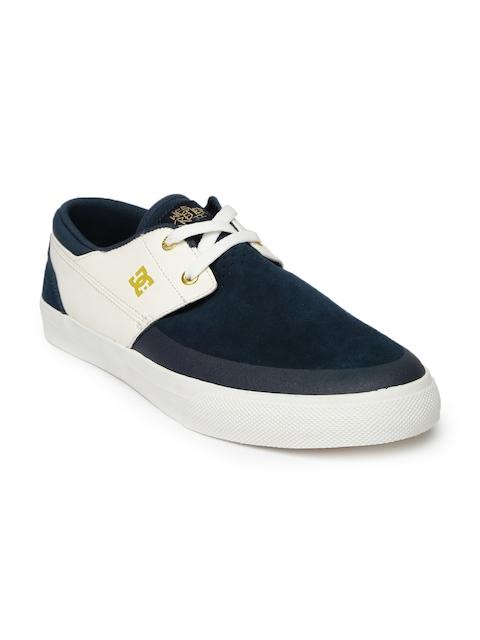 DC Men Navy & Off-White WES Kremer 2 S Sneakers