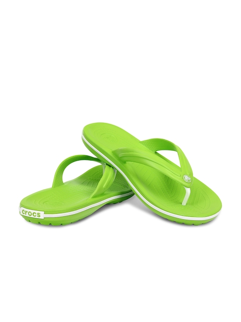 Crocs Men Green Flip-Flops