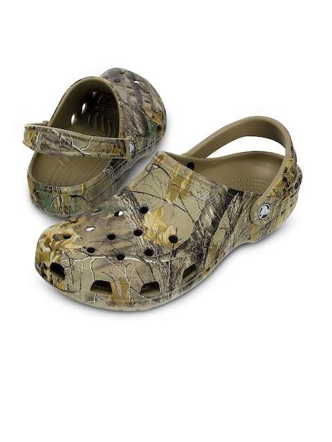 Crocs Men Khaki Printed Clogs