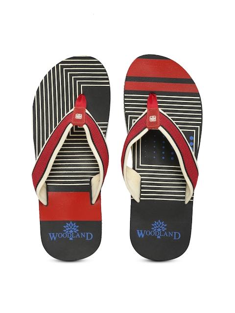 Woodland ProPlanet Men Red & Black Printed Flip-Flops