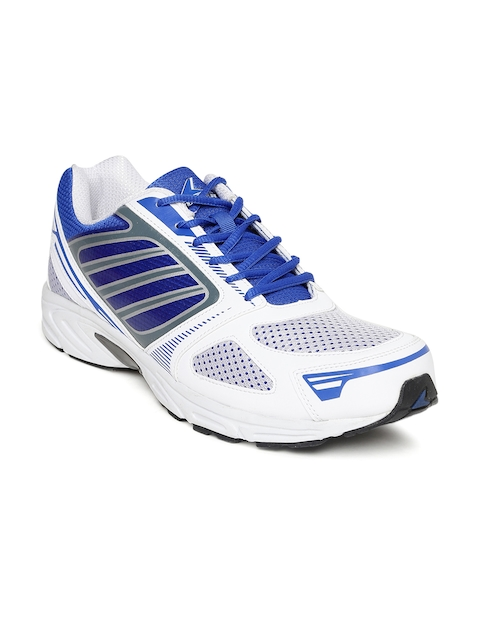 Power Men White & Blue Sports Shoes