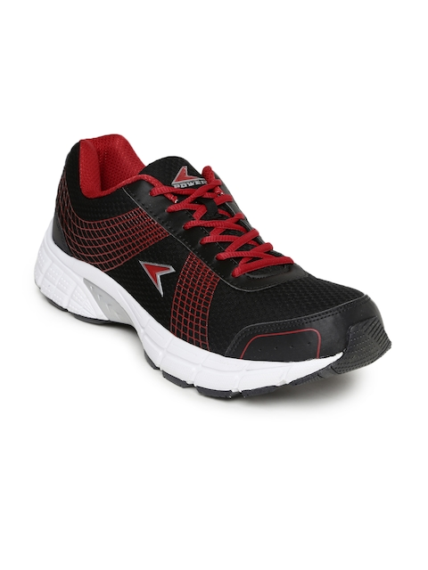 Power Men Black & Red Sports Shoes