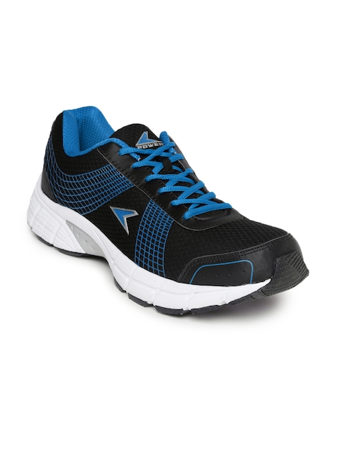 Power Men Black & Blue Sports Shoes