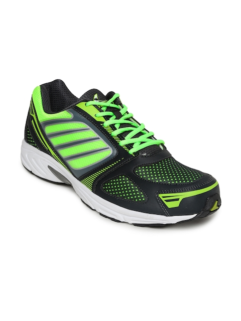 Power Men Charcoal Grey & Neon Green Sports Shoes