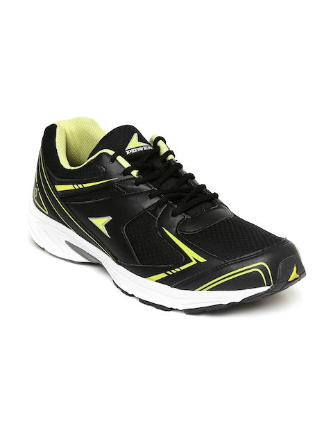 Power Men Black Running Shoes