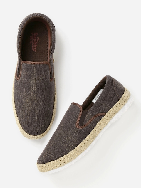 Roadster Men Brown Slip-Ons  available at myntra for Rs.539