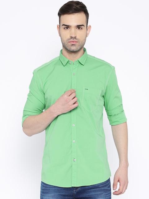 Killer Green Lean Fit Casual Shirt