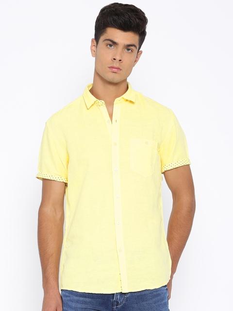 Killer Yellow Lean Fit Casual Shirt