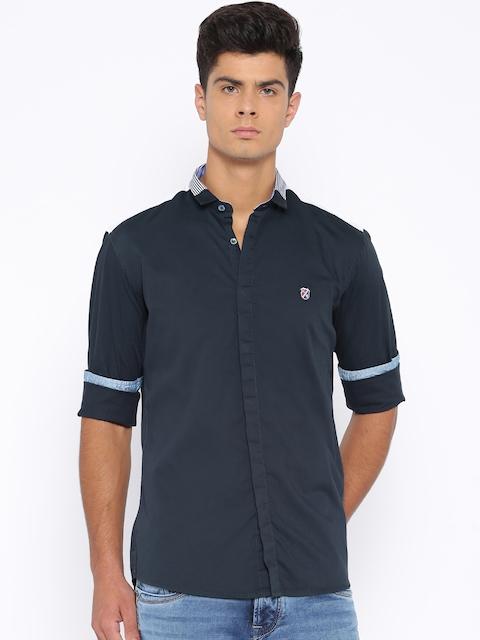 Killer Navy Lean Fit Casual Shirt