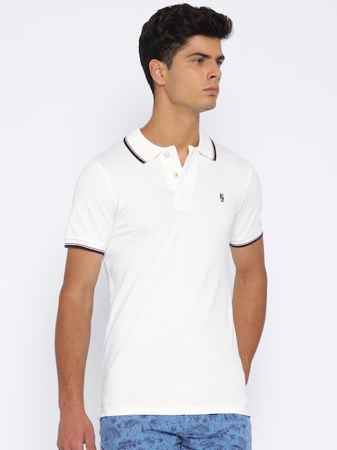 Killer White Lean Fit Polo T-shirt