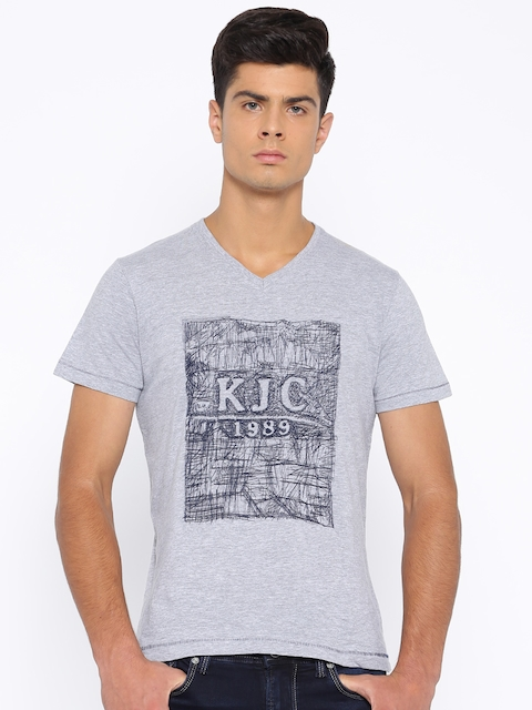 Killer Grey Melange Printed T-shirt