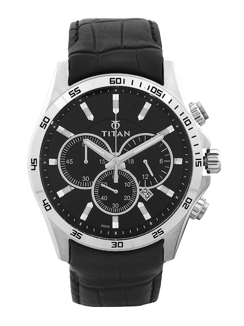 Titan Men Brown Dial Chronograph Watch NH90022SL02E