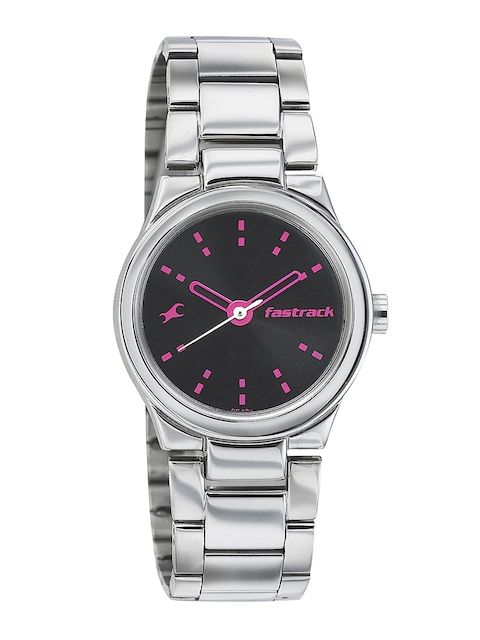 Fastrack Women Black Dial Watch 6114SM02