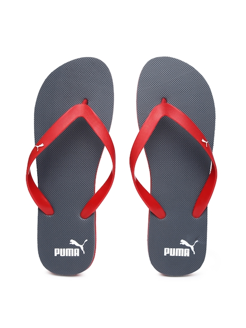 Puma Men Red & Charcoal Grey Odius Flip-Flops