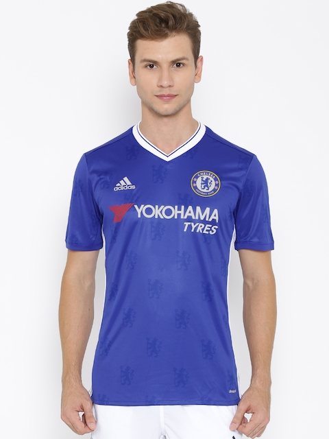 Adidas Blue Chelsea F.C. H Polyester Printed Jersey