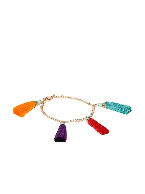 Blueberry Multicoloured Tassel Bracelet