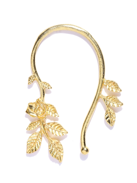 Blueberry Gold-Toned Leaf-Shaped Ear Cuff  available at myntra for Rs.299
