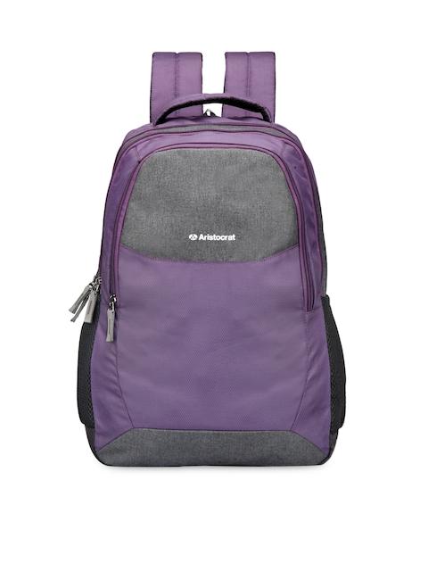 Aristocrat Unisex Purple Laptop Backpack