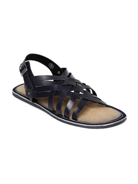 Tortoise Men Navy Leather Sandals