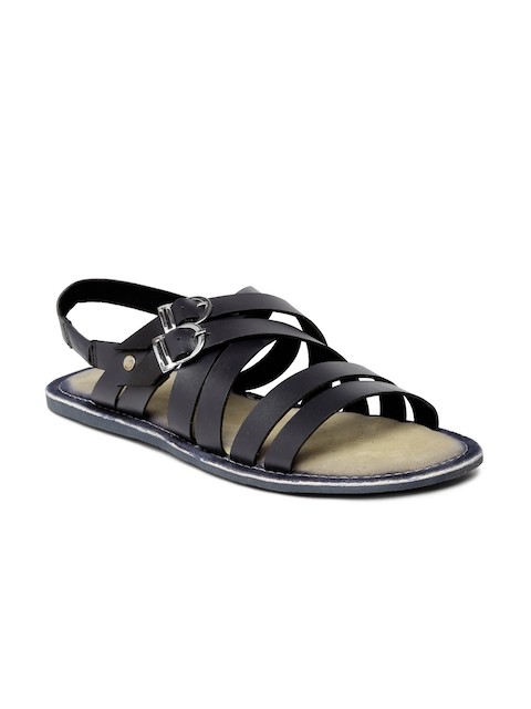 Tortoise Men Navy Blue Leather Sandals