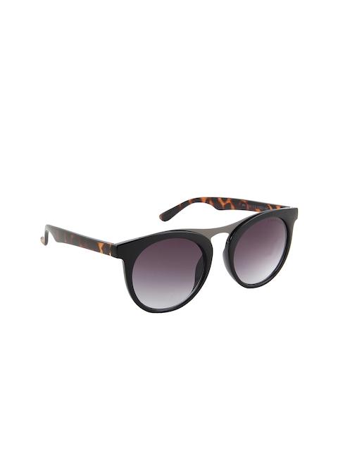 Farenheit Unisex Brown Printed Gradiant Round Sunglasses SOC-FA-1343-C2