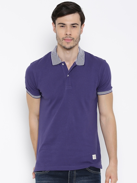 United Colors of Benetton Purple Polo T-shirt