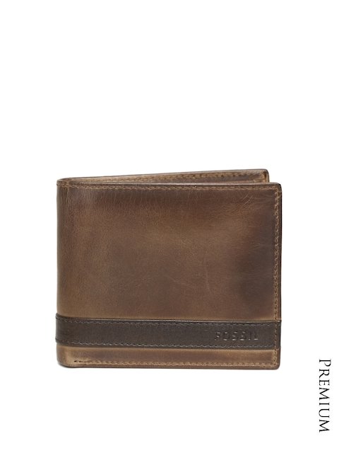 Fossil Men Brown Genuine Leather Wallet