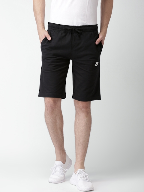 Nike Men Black Solid Regular Fit NSW SHORT JSY CLUB Shorts