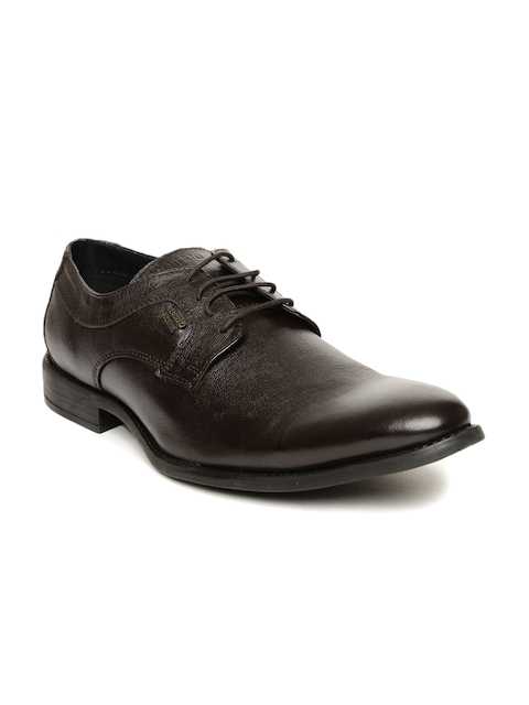 Alberto Torresi Men Brown Leather Derby Shoes