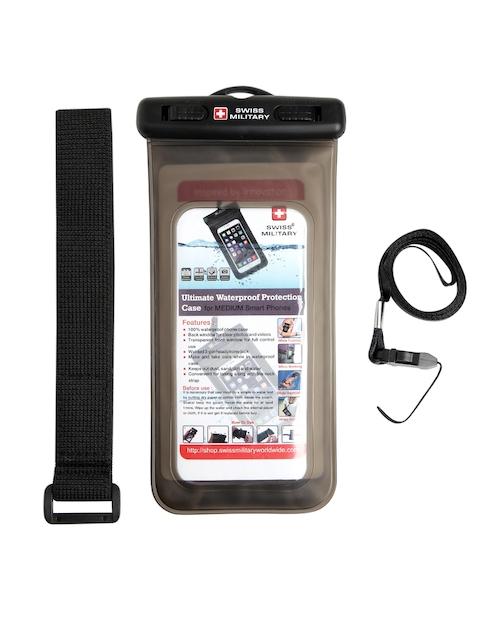 SWISS MILITARY Unisex Black Waterproof Mobile Case